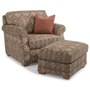 Flexsteel Coburn Chair and Ottoman Set