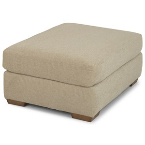 Casual Ottoman with Tapered Block Feet