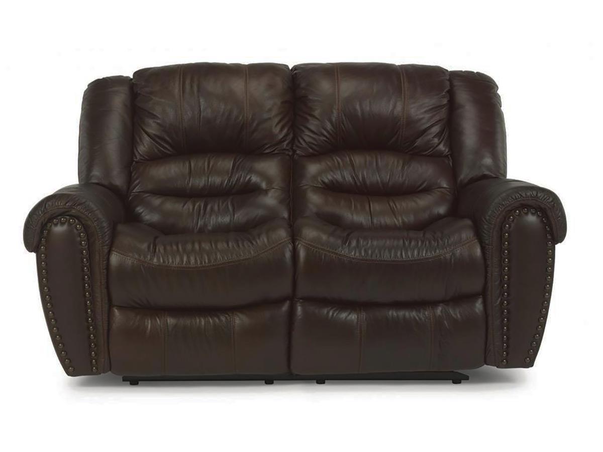 Flexsteel Lancer Leather Reclining Loveseat - Item Number: 1210-60