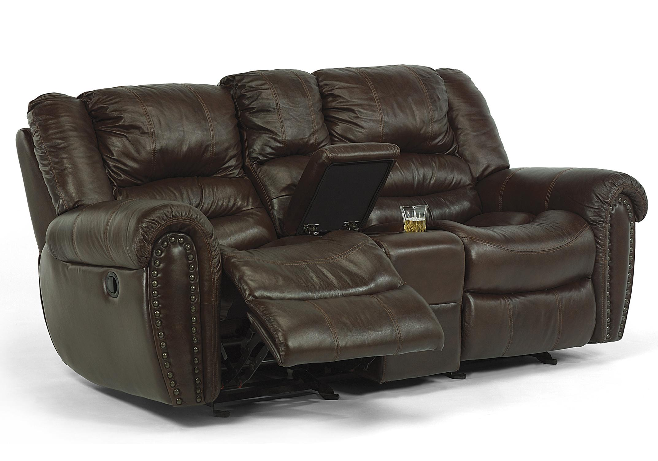 Power Loveseat with Console