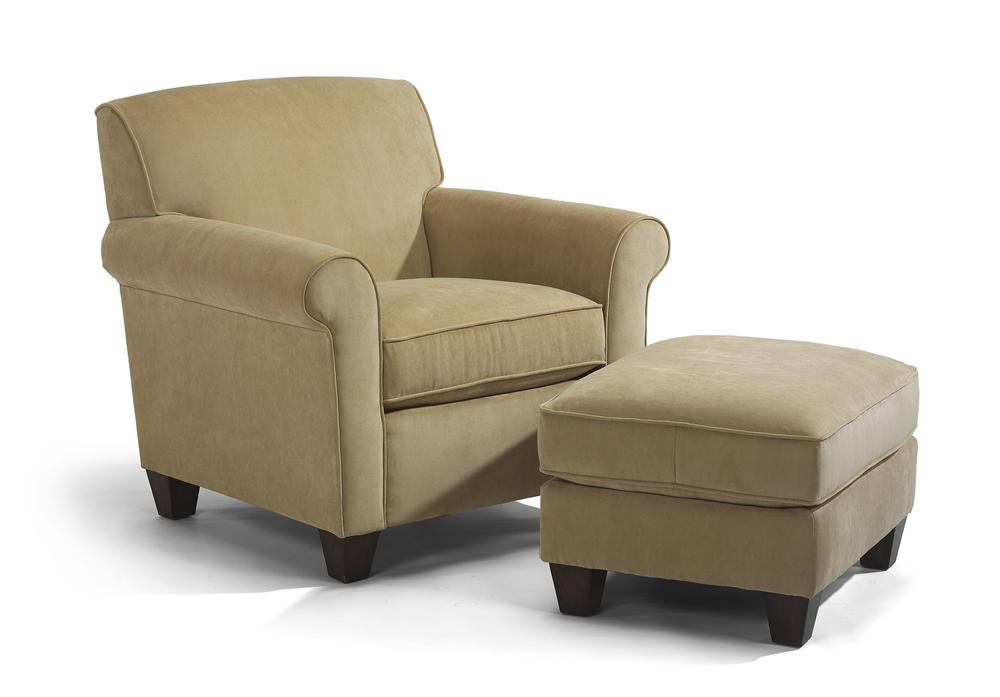 living room chair and ottoman set flexsteel upholstered chair and ottoman olinde s 25467
