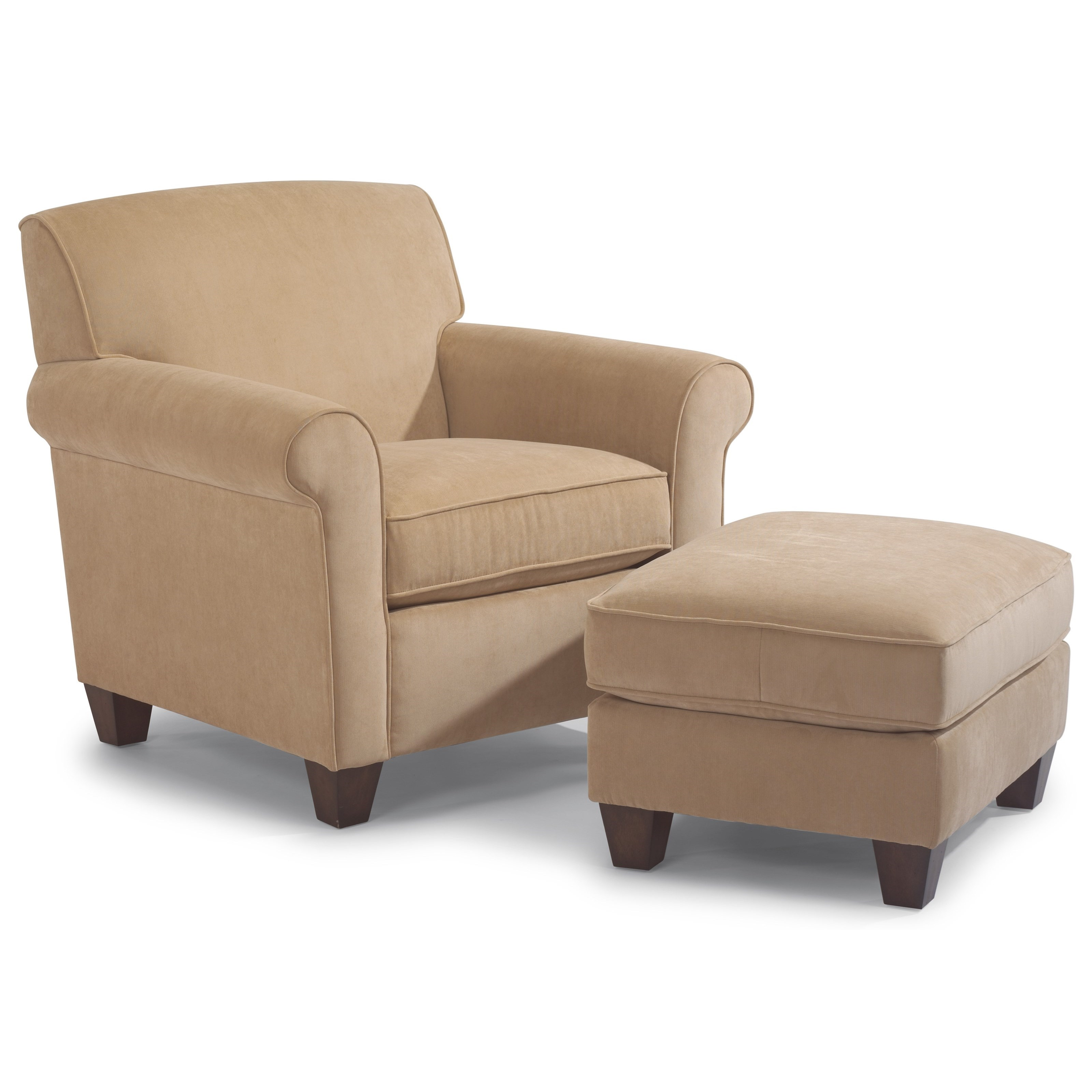 Flexsteel Dana Upholstered Chair And Ottoman Furniture