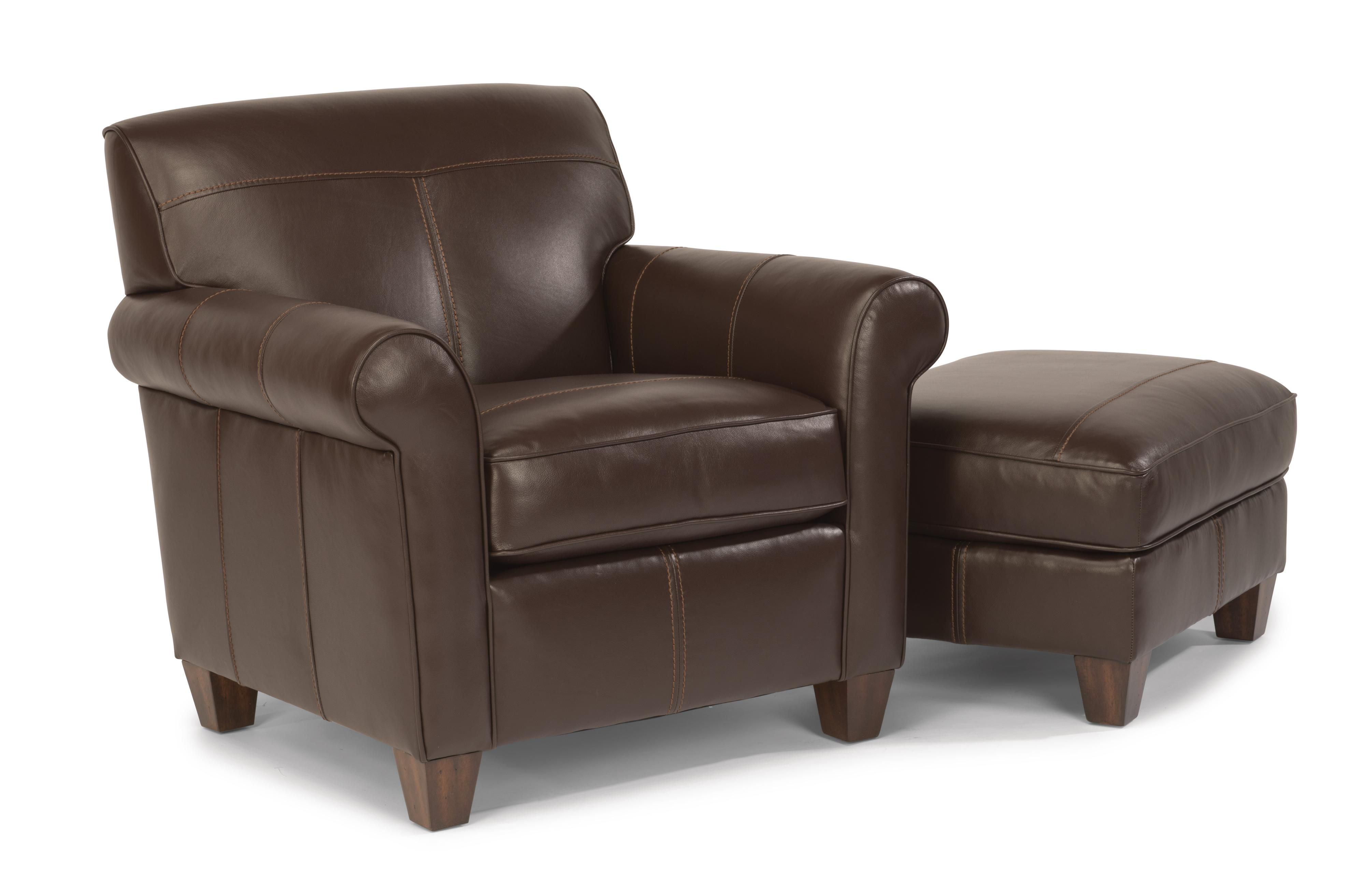 Flexsteel Dana Chair and Ottoman - Item Number: B3990-10+08