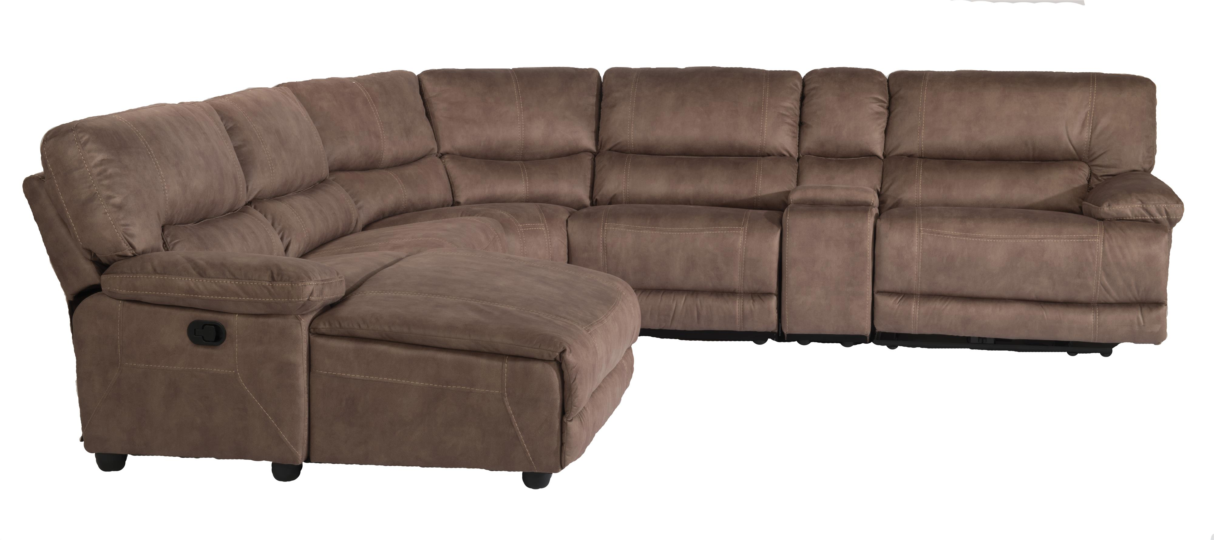 Latitudes - Delia 6 Pc Reclining Sectional Sofa w/ LAF Chaise
