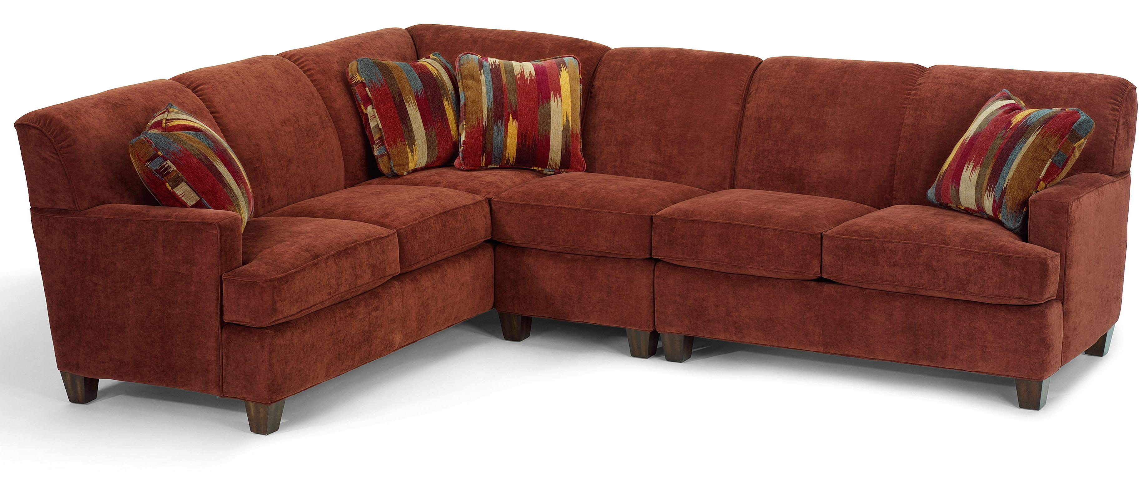 Dempsey Contemporary 3 Piece Sectional Sofa With RAF Loveseat By Flexsteel
