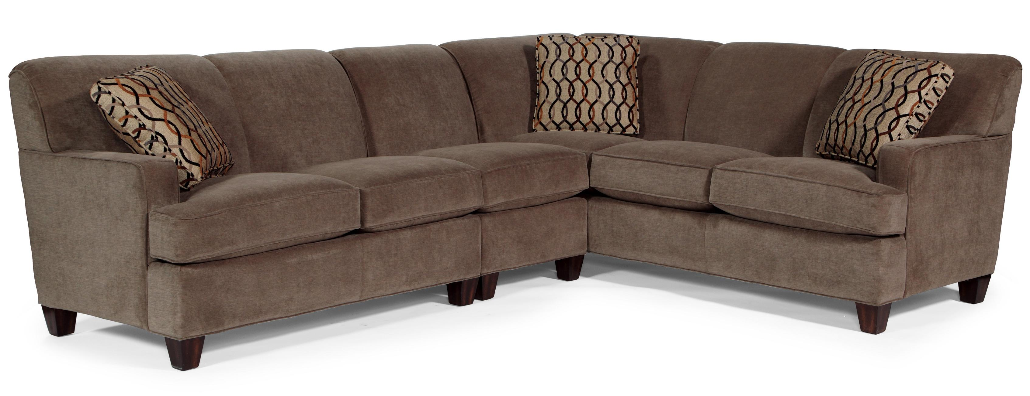Flexsteel Dempsey Contemporary 3 Piece Sectional Sofa With