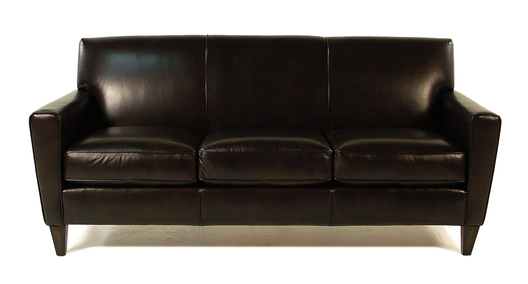 Flexsteel Chazz Leather Upholstered Sofa - Item Number: 3966-31