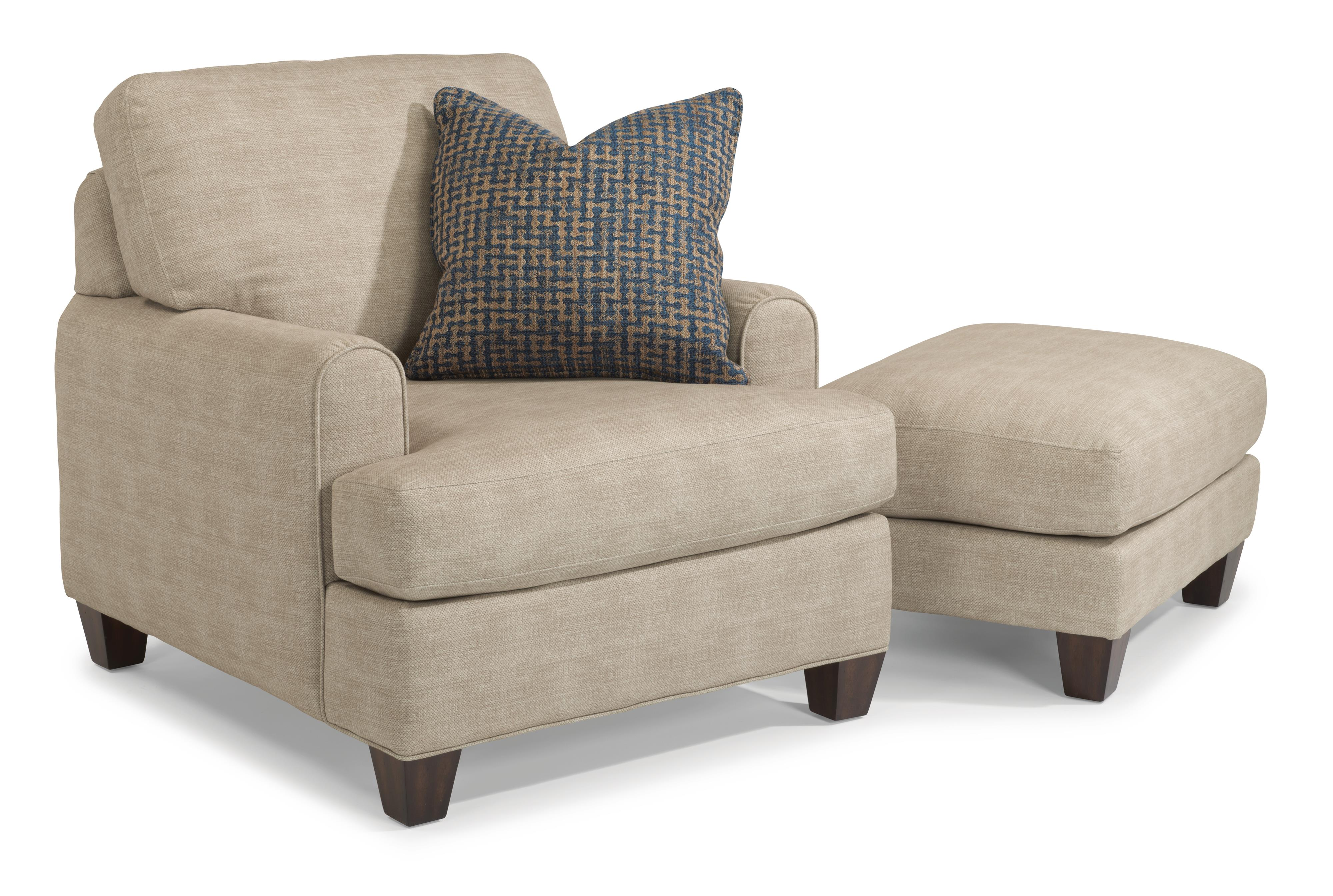 Flexsteel Donatello 5685 Chair & Ottoman Set - Item Number: 5685-10+5685-08-120-80