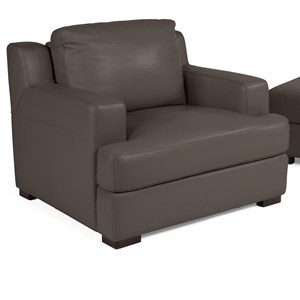 Contemporary Power Adjustable Back Chair with Track Arms