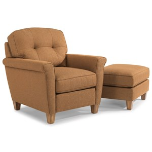 Flexsteel Elenore Chair & Ottoman Set