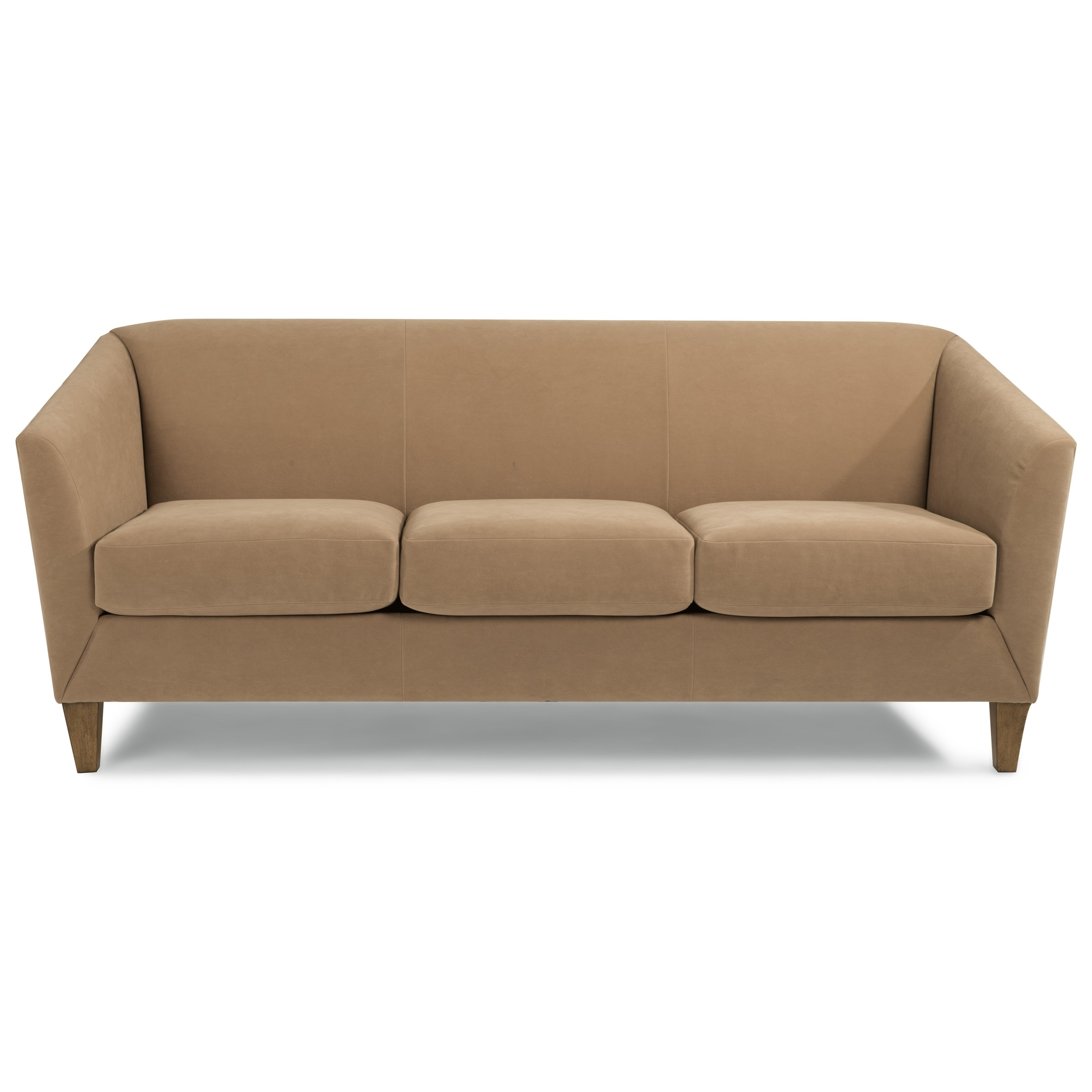 Flexsteel Emery Transitional Sofa With Flare Tapered Arms