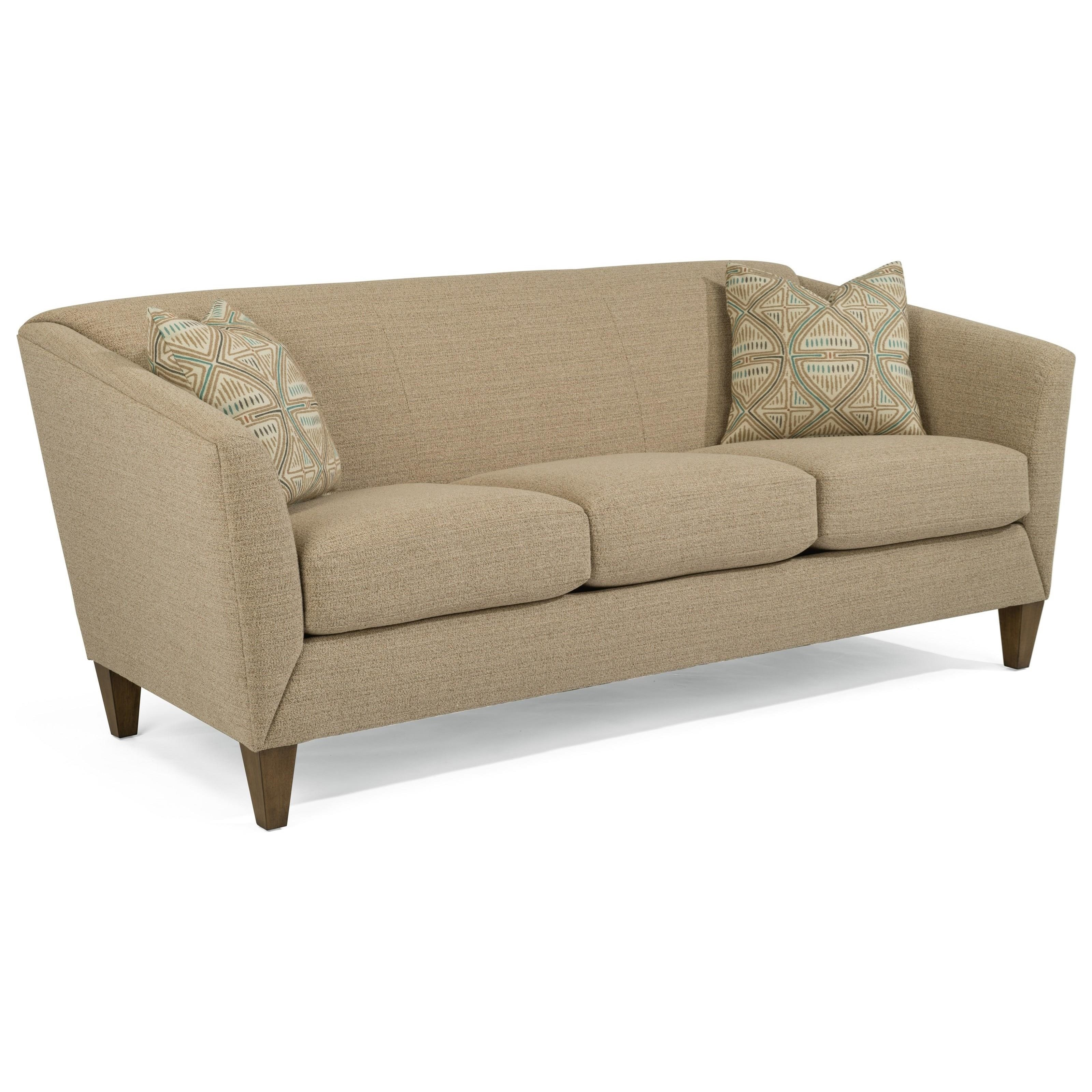 Flexsteel Sofa Bed Mattress: Flexsteel Emery Transitional Sofa With Flare Tapered Arms
