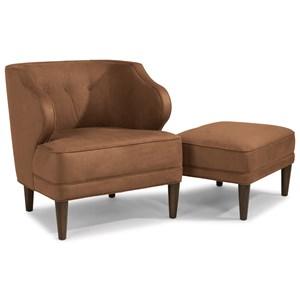Flexsteel Etta Chair and Ottoman Set
