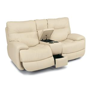Flexsteel Latitudes - Evian Power Love Seat with Power Headrests