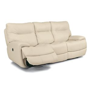 Flexsteel Latitudes - Evian Power Reclining Sofa with Power Headrest