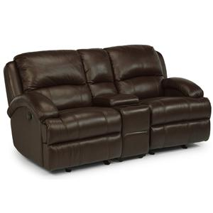 Flexsteel Latitudes - Fast Lane Rocking Loveseat