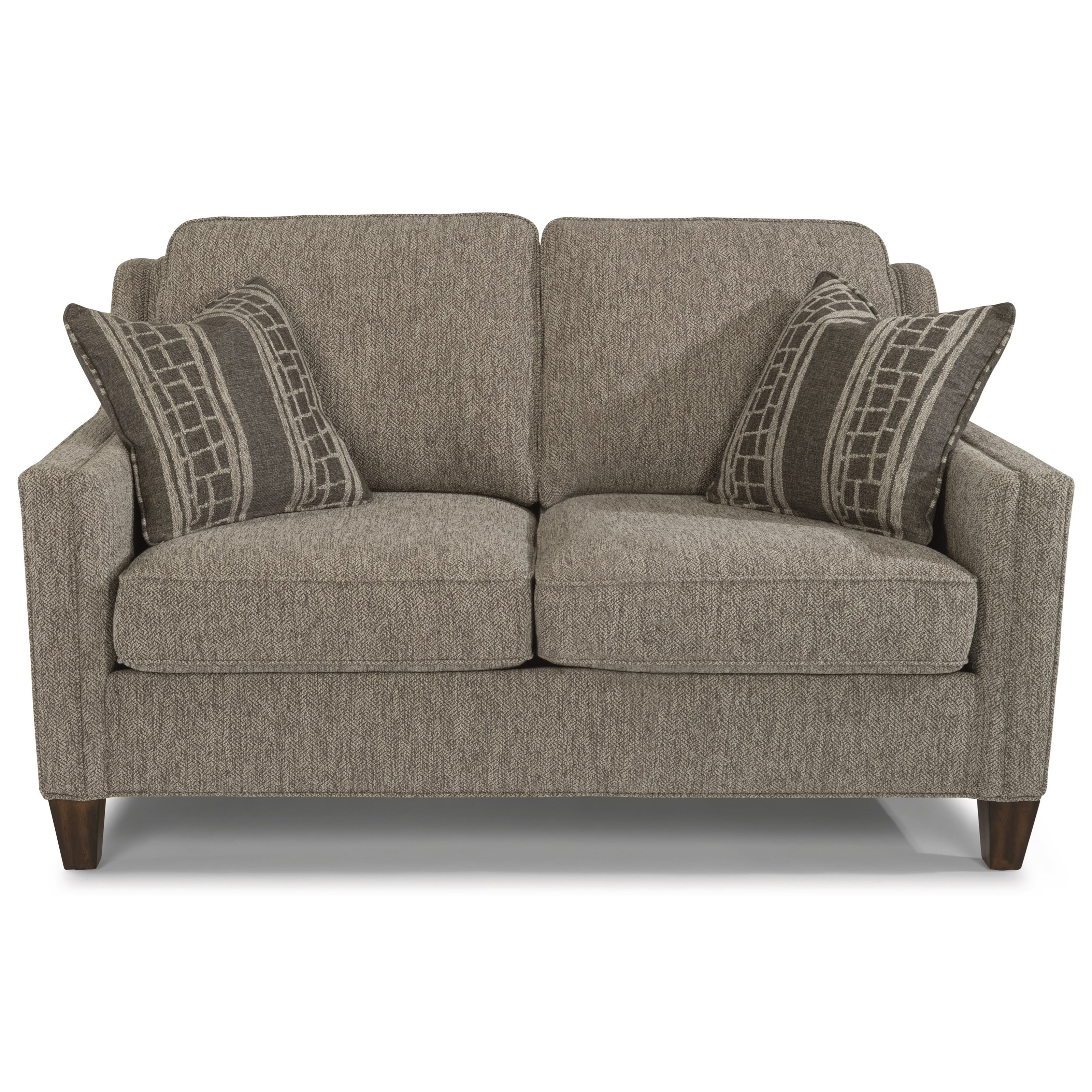 what colors are best for bedrooms flexsteel finley contemporary loveseat with track arms 20970