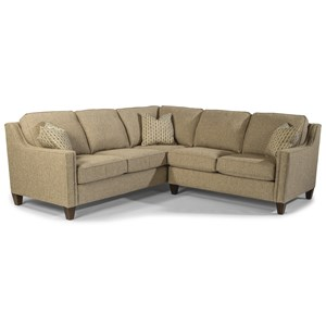 Contemporary 2-Piece Sectional with LAF Corner Sofa