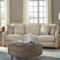 Flexsteel Fortuna Transitional Sofa with English Arms