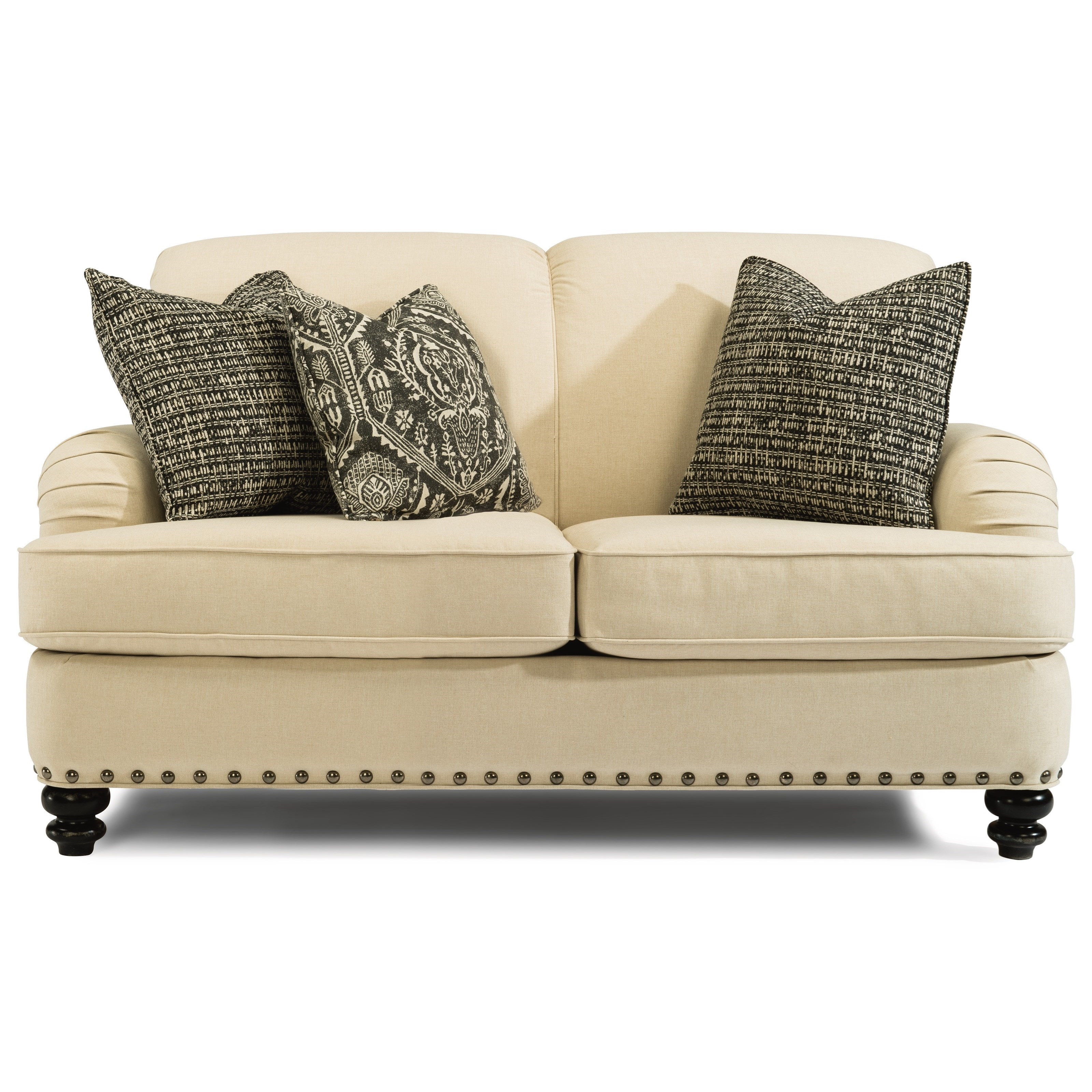 Flexsteel Fresco Traditional Loveseat With English Arms Rooms And Rest Loveseats