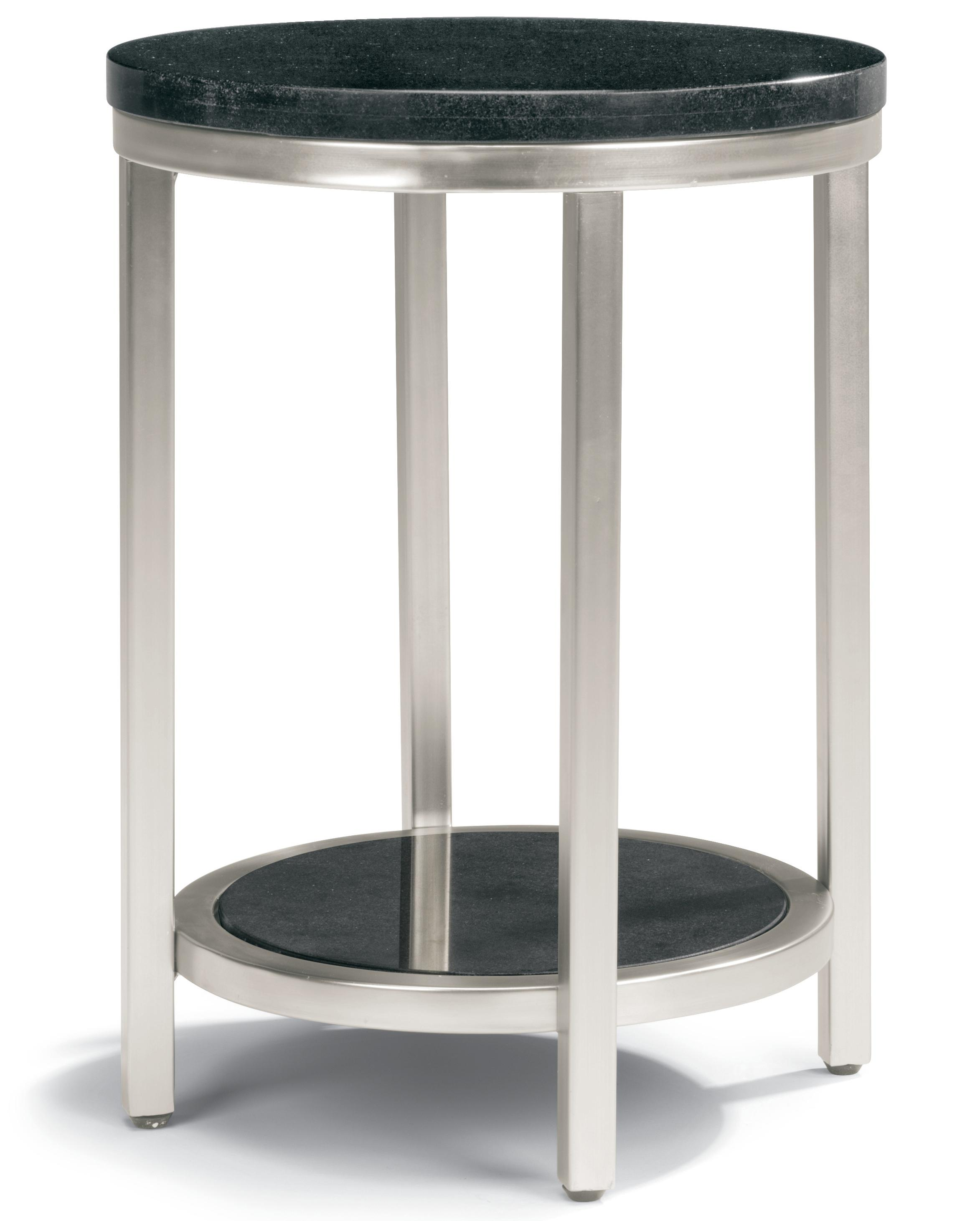 Galaxy chair side table with granite top by flexsteel