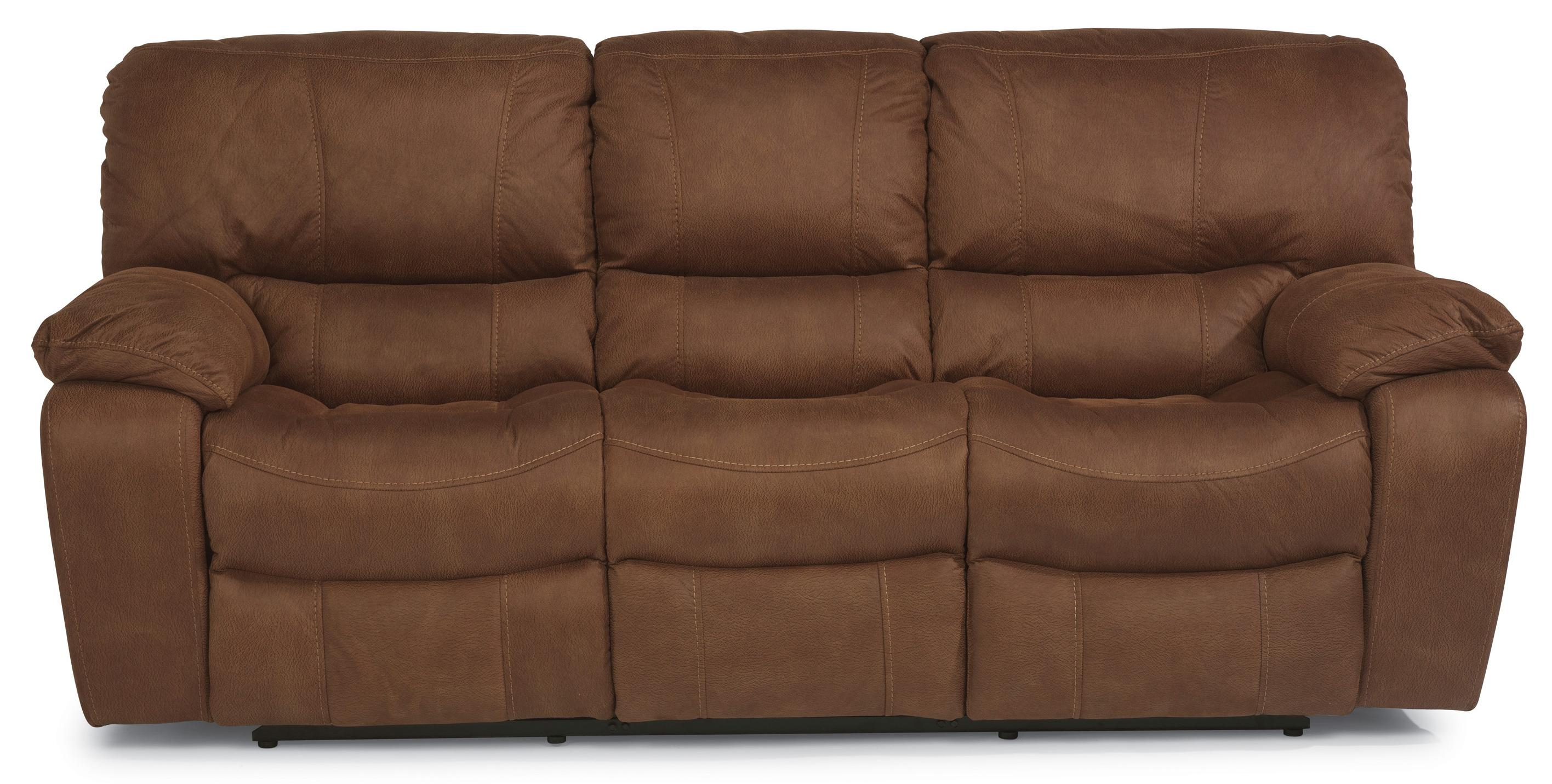 Flexsteel Latitudes Grandview Reclining Sofa with Plush Pillowed