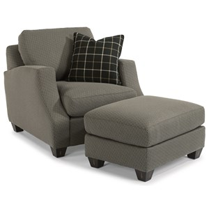 Flexsteel Grayson Chair & Ottoman Set