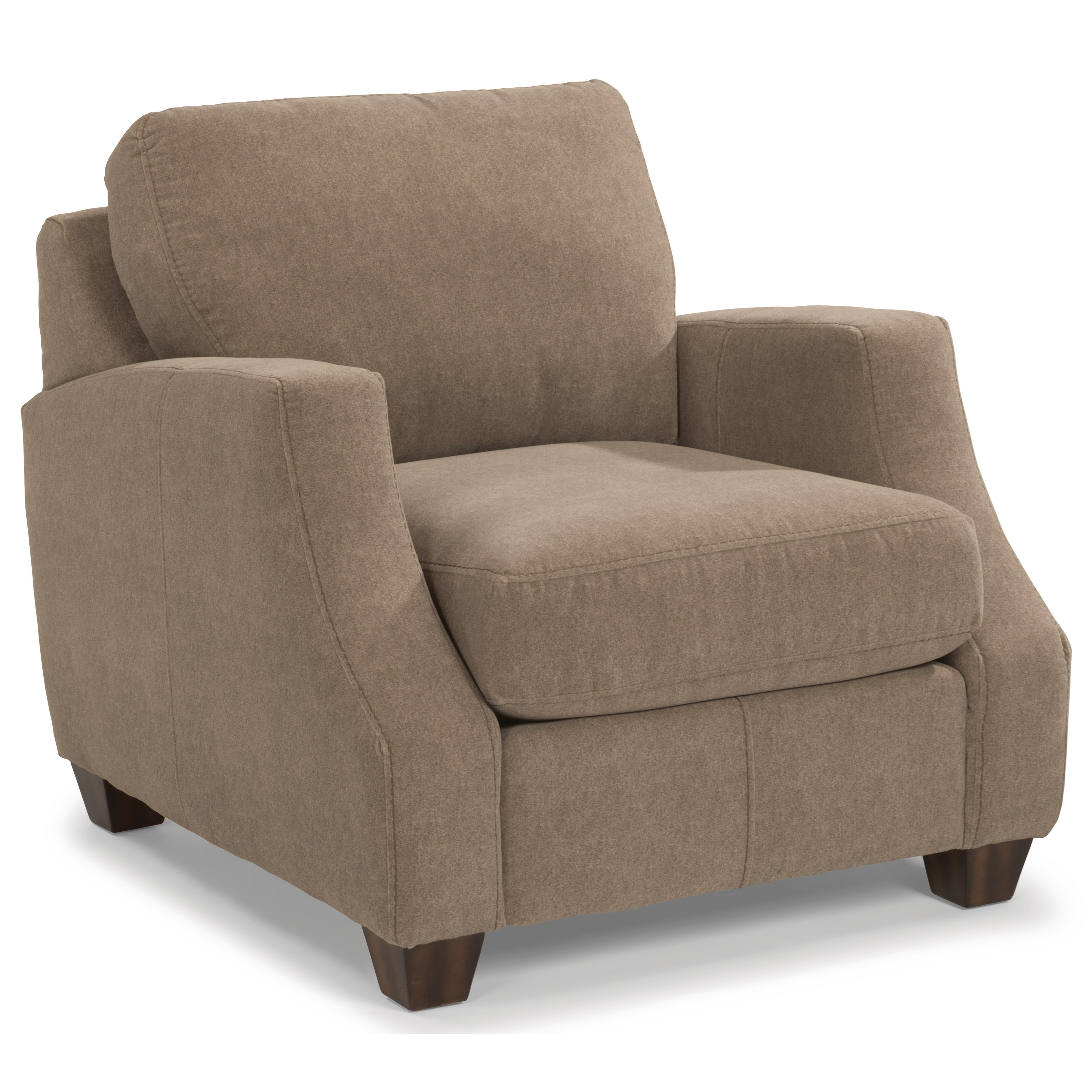 Flexsteel Grayson Contemporary Chair And Ottoman Set John V Schultz Furniture Chair Ottoman
