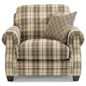 Flexsteel Gretchen Chair and Ottoman Set with One Toss Pillow