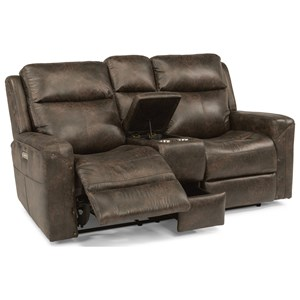 Flexsteel Latitudes - Gunner Power Reclining Console Love Seat