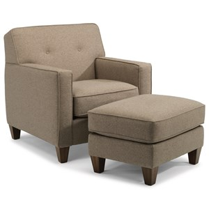 Flexsteel Haley 5724 Chair and Ottoman Set