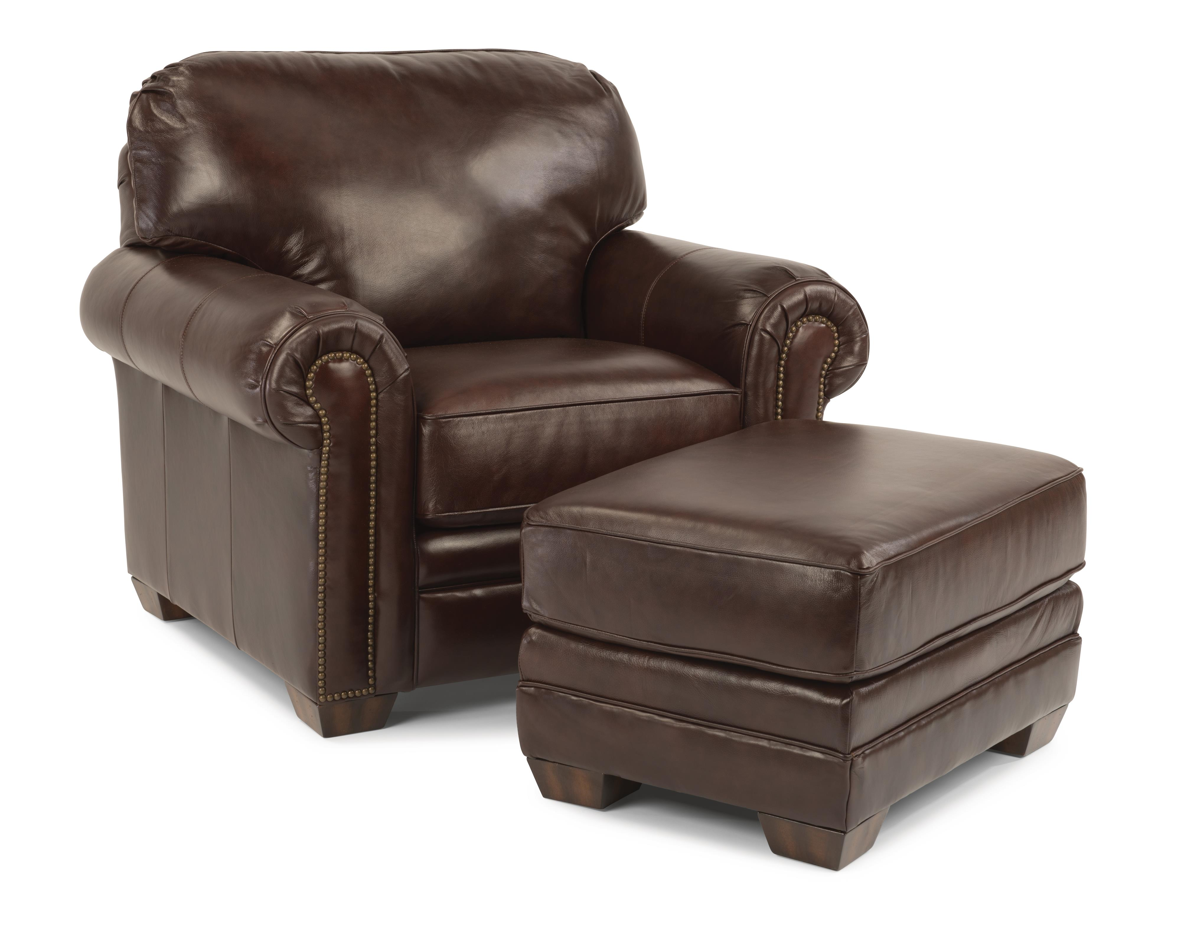 Flexsteel Harrison Chair and Ottoman - Item Number: 3270-10-08