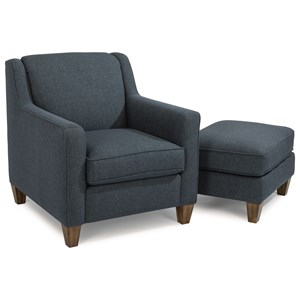 Flexsteel Holly Chair and Ottoman Set