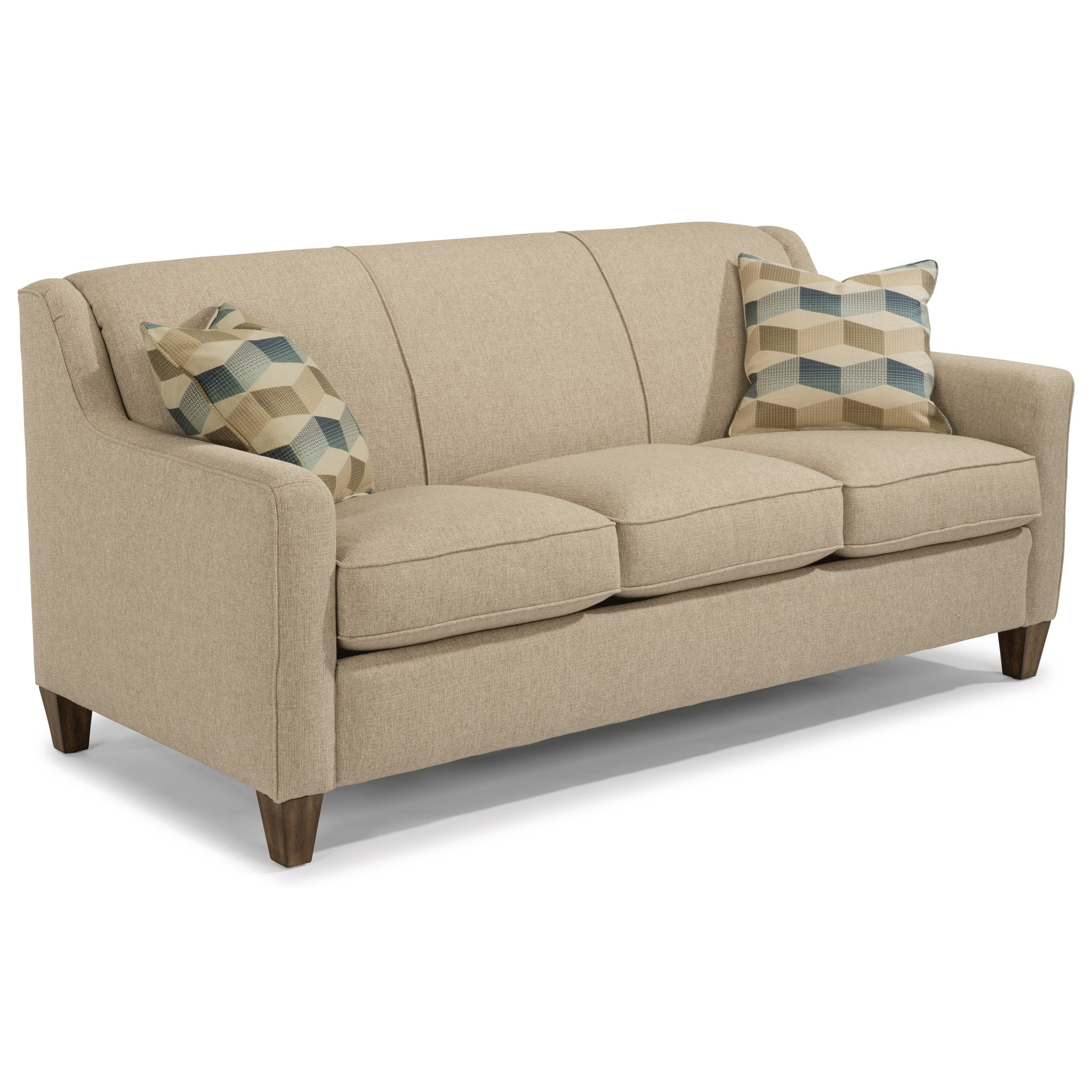 Flexsteel Holly Contemporary Sofa with Angled Track Arms