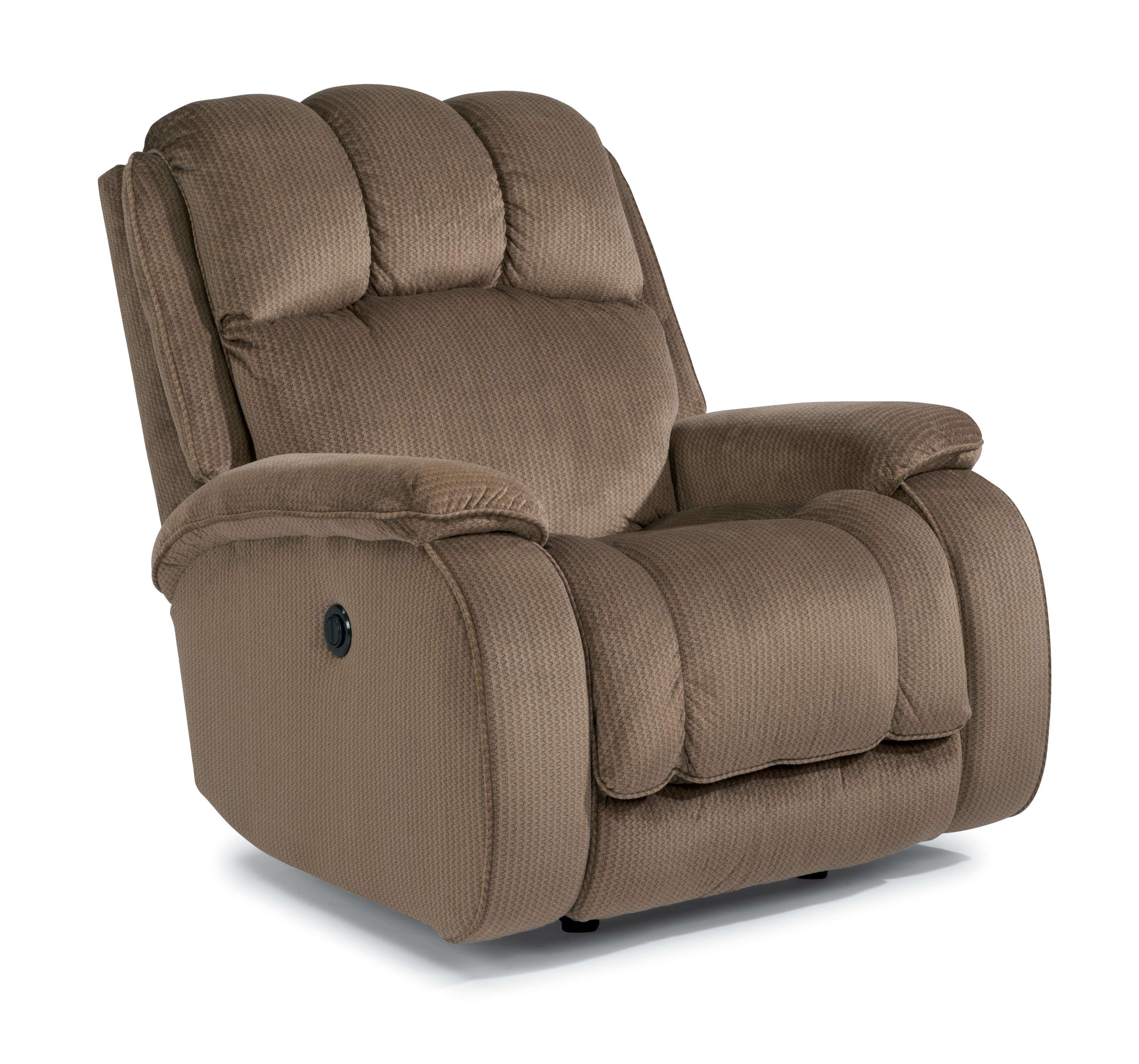 Flexsteel Huron Casual Power Rocking Recliner With Plush