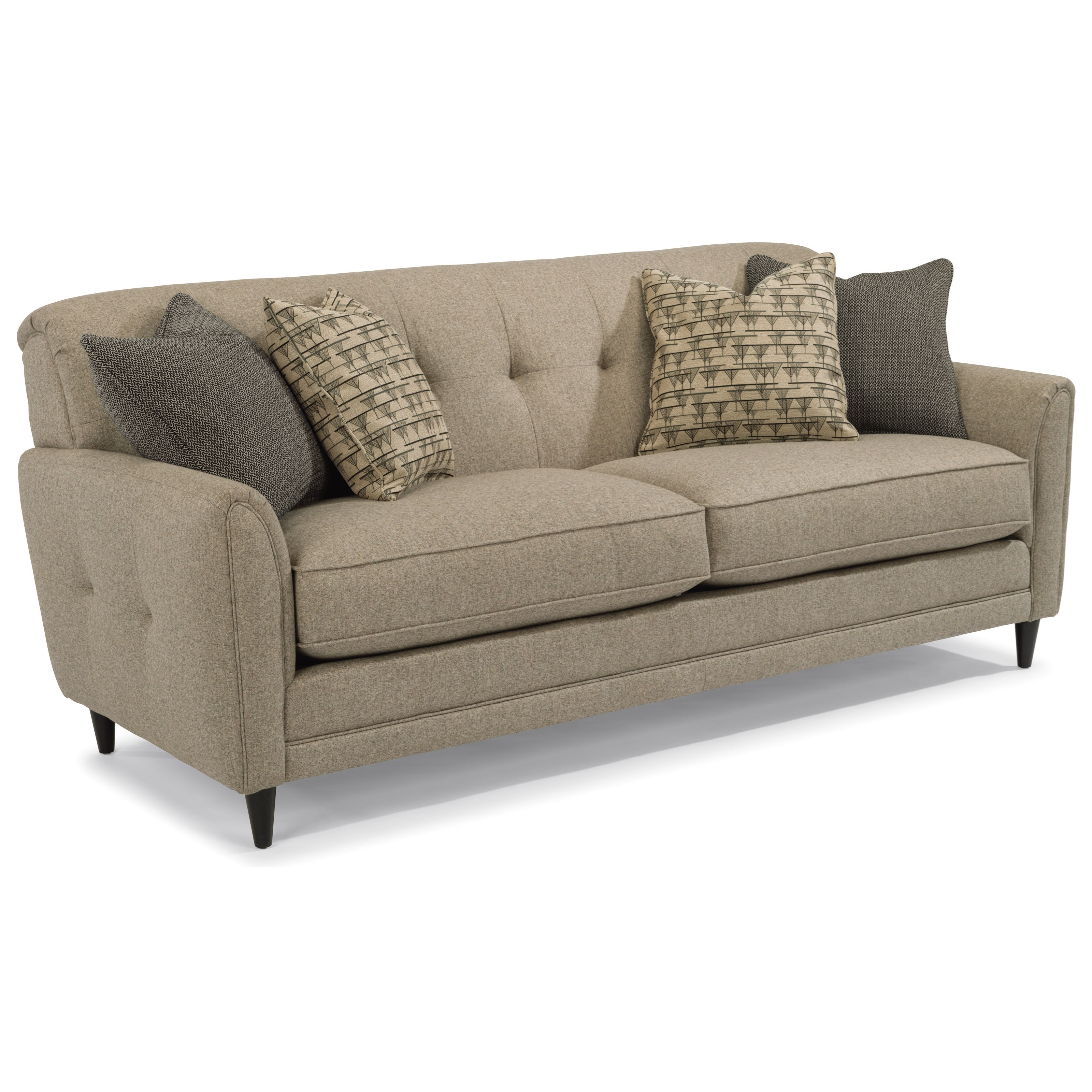 flexsteel sofa arms couch stationary rolled sheelysfurniture couches livingroomgoals with pin patterson