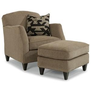 Flexsteel Jasmine Chair and Ottoman Set