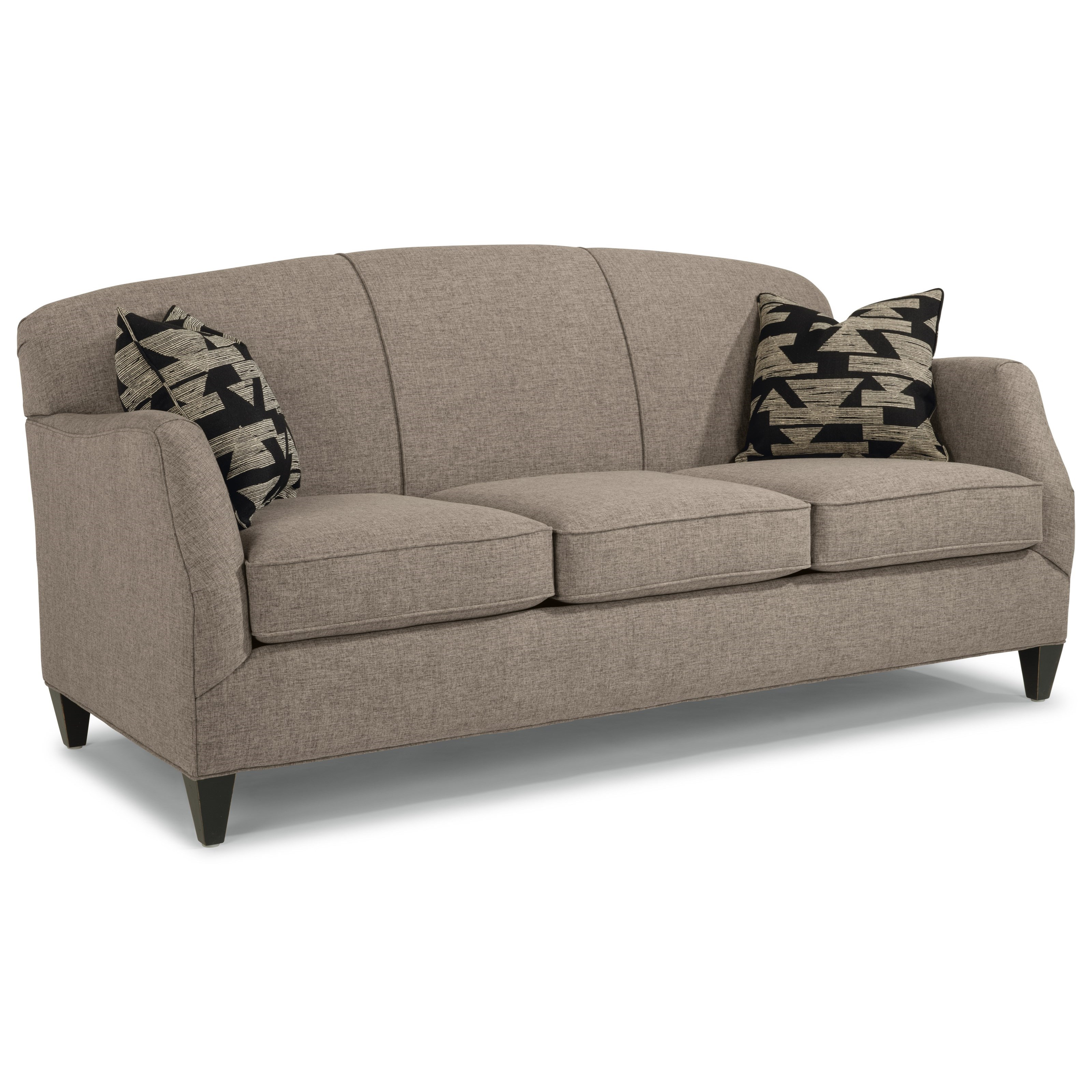 Jasmine Contemporary Sofa with Tapered Legs by Flexsteel at Wayside  Furniture