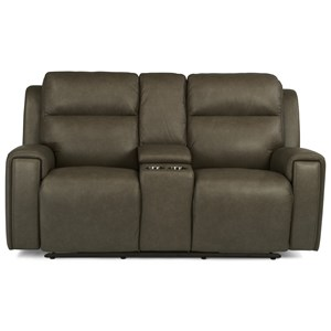 Power Reclining Console Love Seat