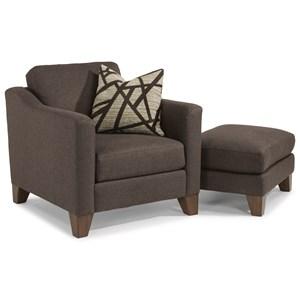 Flexsteel Jordan Chair and Ottoman Set