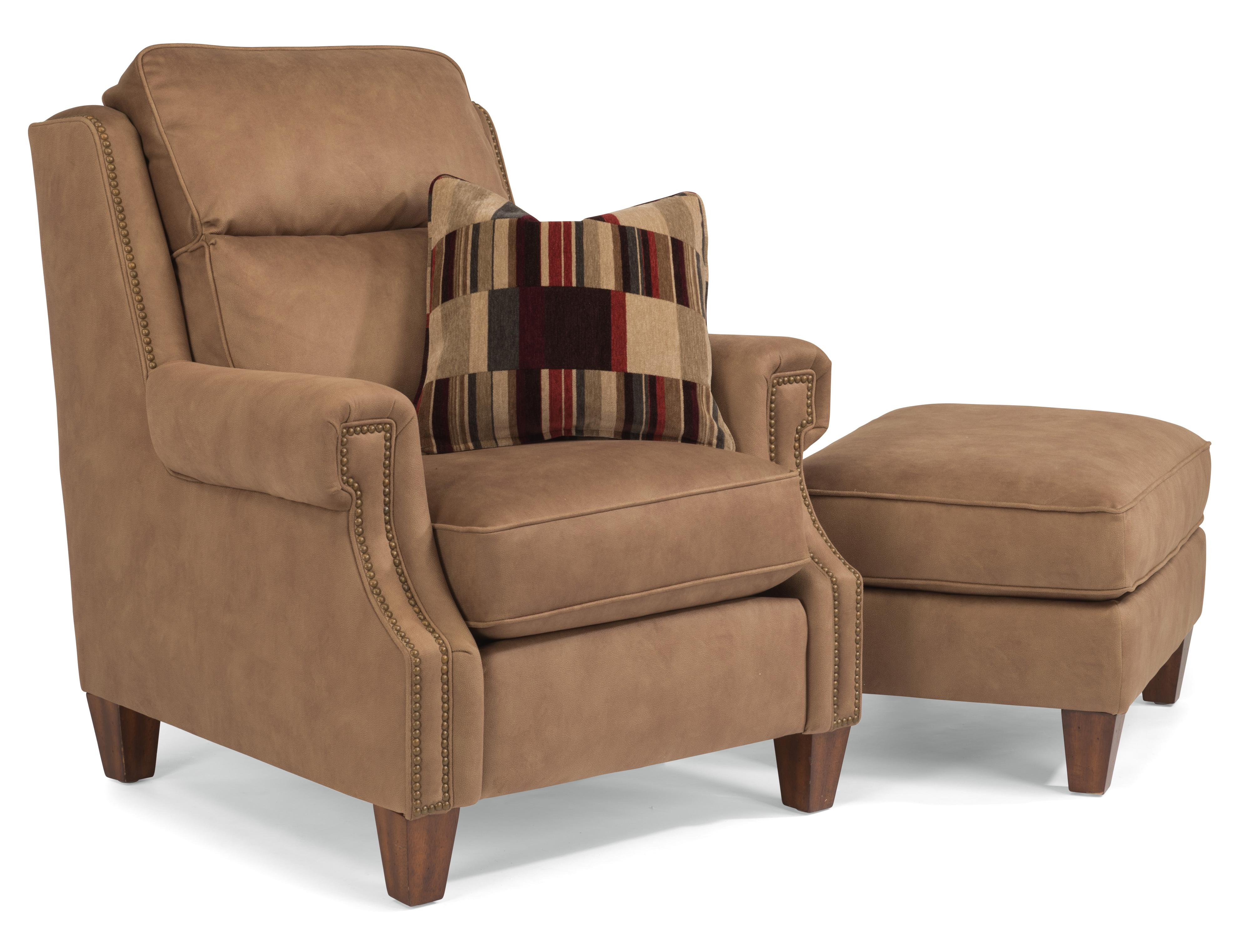 Flexsteel Judson Chair and Ottoman - Item Number: 7819-10+7819-08-581-74