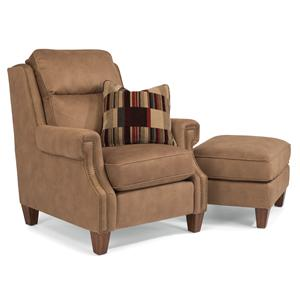 Flexsteel Judson Chair and Ottoman