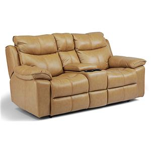 Flexsteel Butterscotch Power Love Seat with Console
