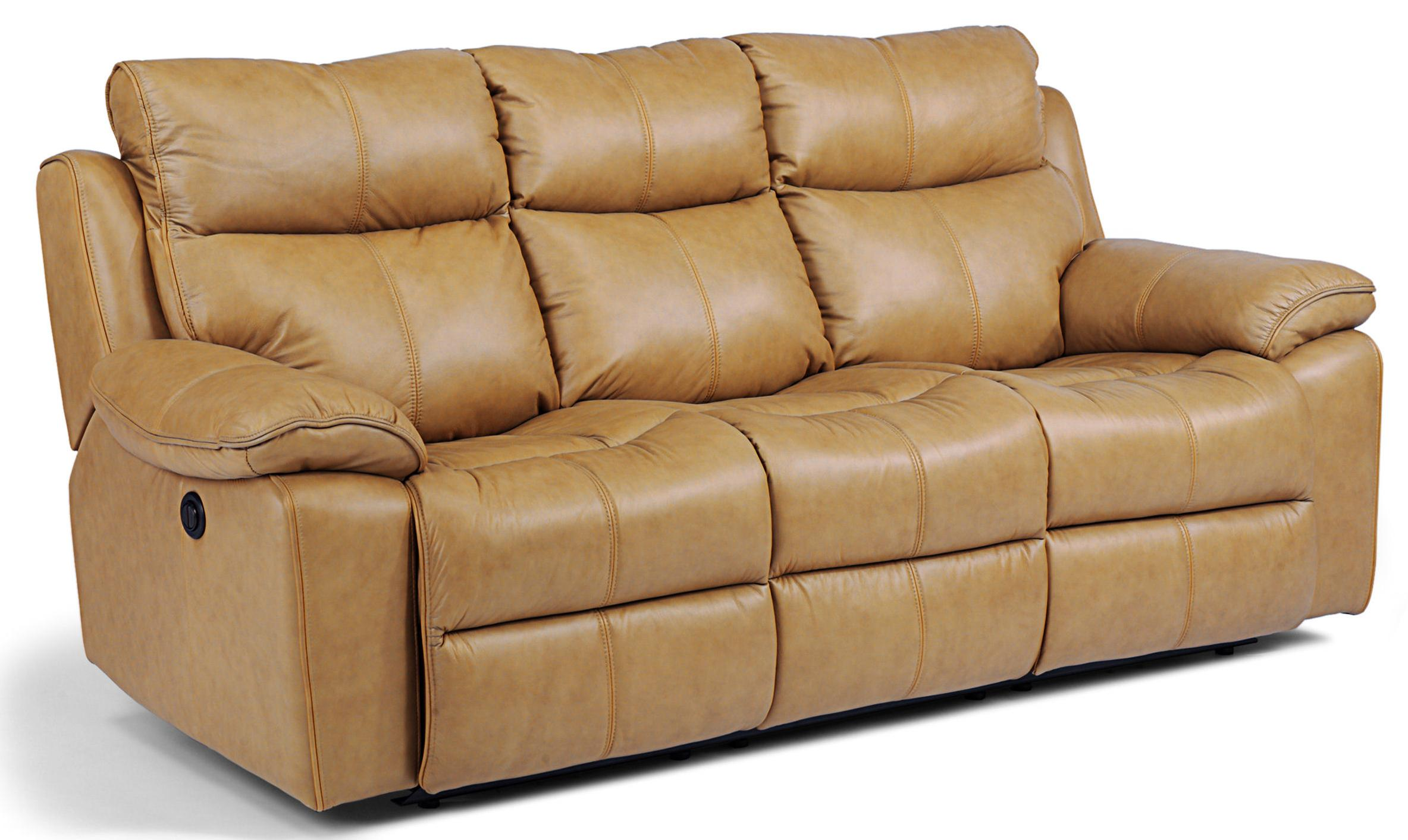 Flexsteel Latitudes Julio Power Reclining Sofa with Bustle Backs