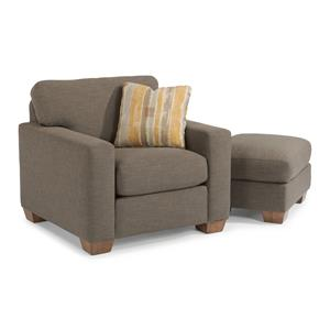 Flexsteel Kennicot Chair & Ottoman Set