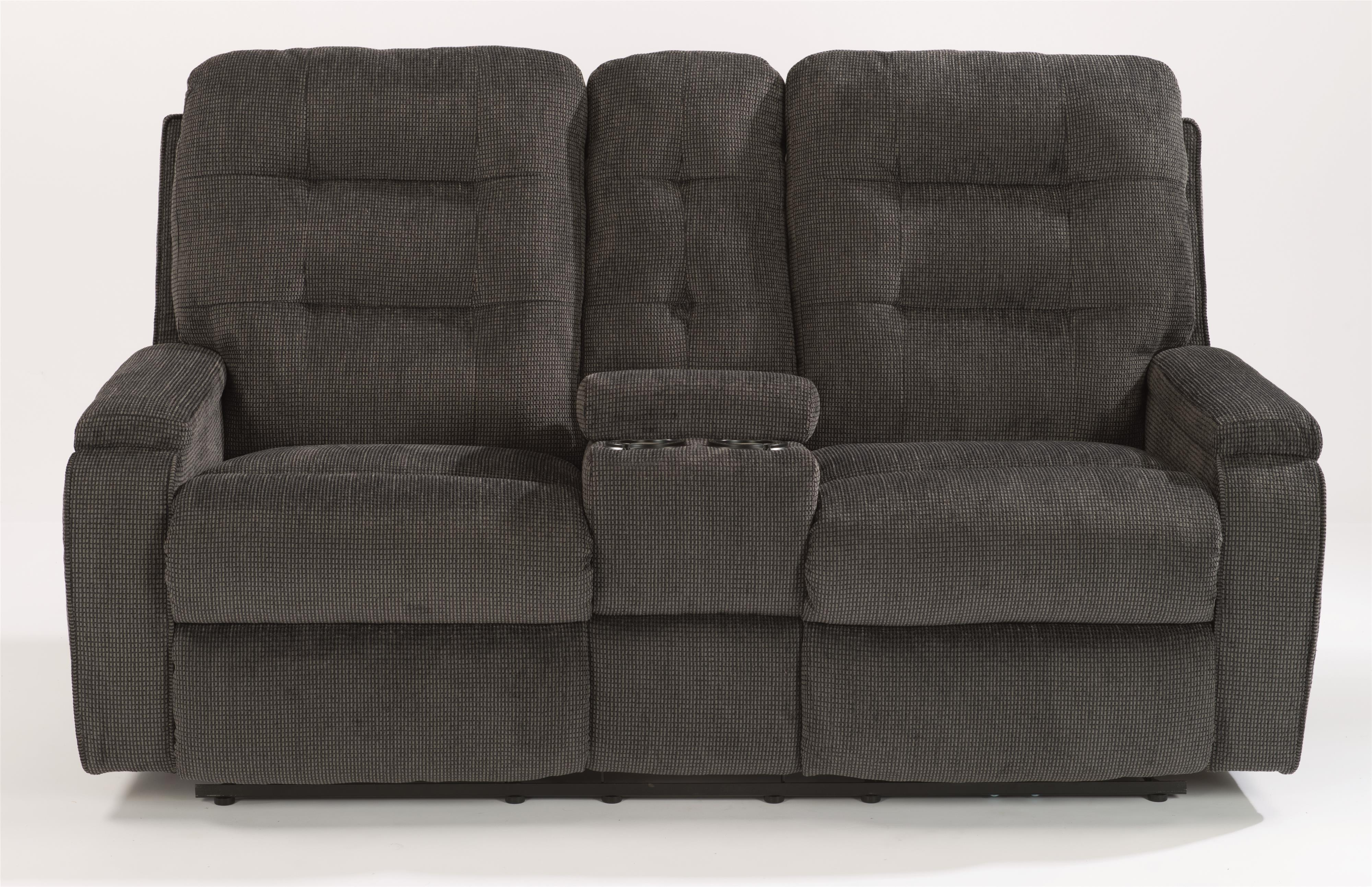 Flexsteel Kerrie Power Reclining Loveseat with Console - Item Number: 2806-601M-163-40