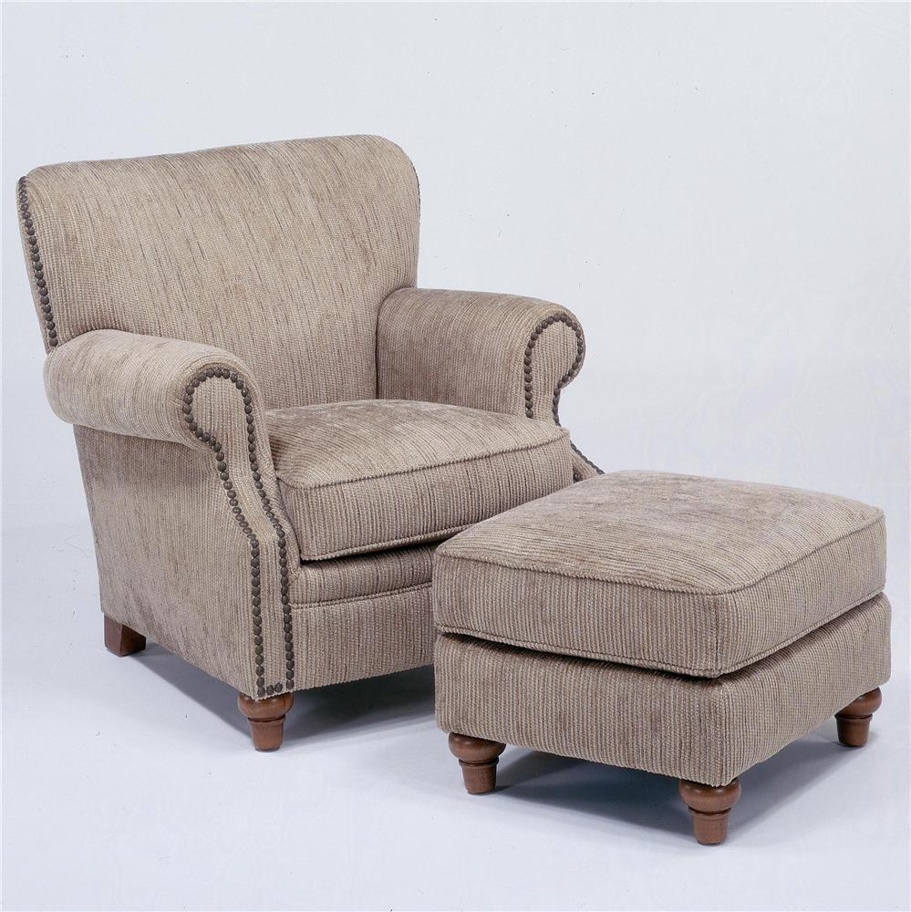 Flexsteel Killarney Chair & Ottoman - Item Number: 7860-10+08
