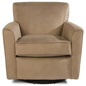 Transitional Swivel Glider Chair with Tight Back