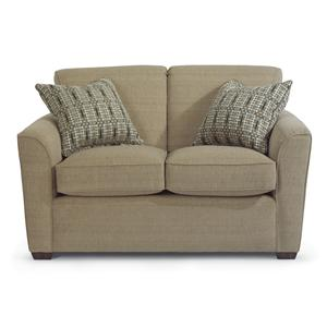 Loveseat with Flair Tapered Arms