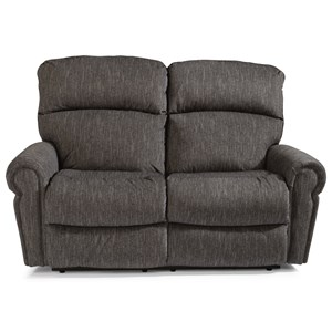 Flexsteel Langston Power Reclining Love Seat w/ Power Headrests